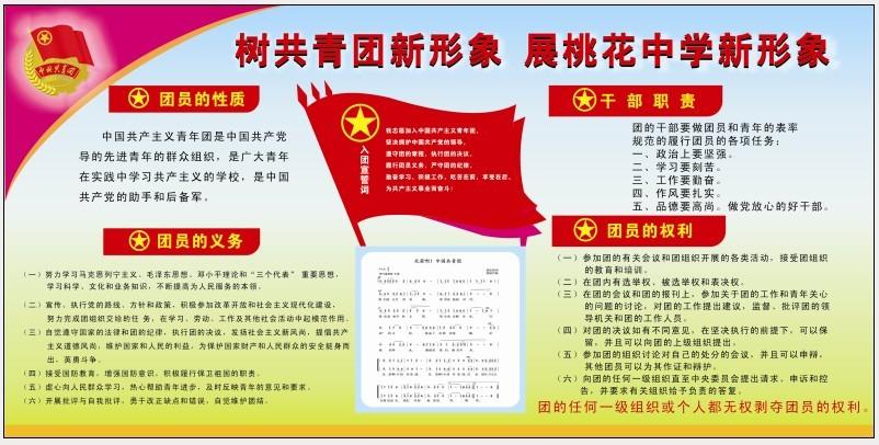 学校团委宣传栏设计